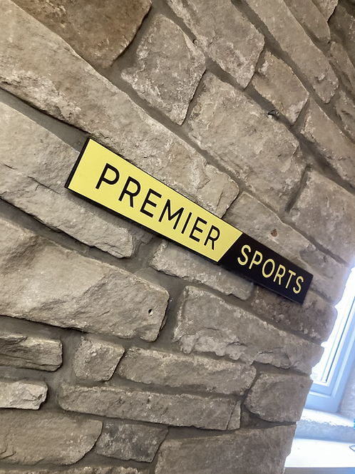 Premier Sports Network Wooden Wall Sign