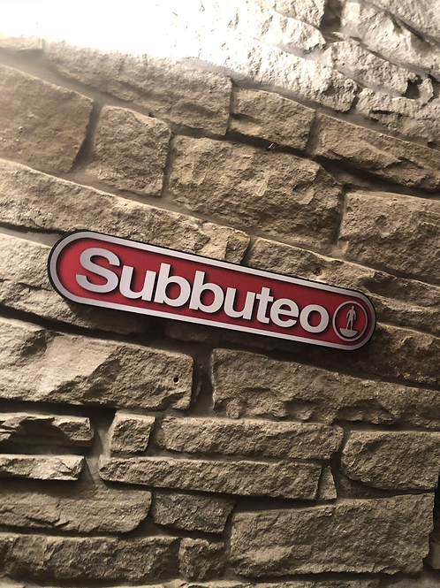 Subbuteo 1980's Classic Wooden Wall Sign