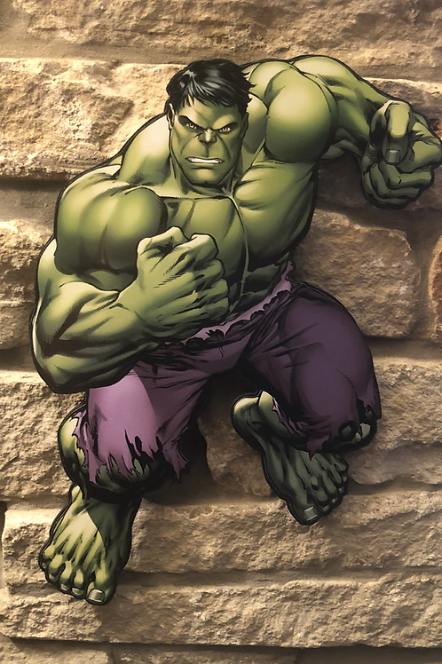 The Incredible Hulk wooden wall Character