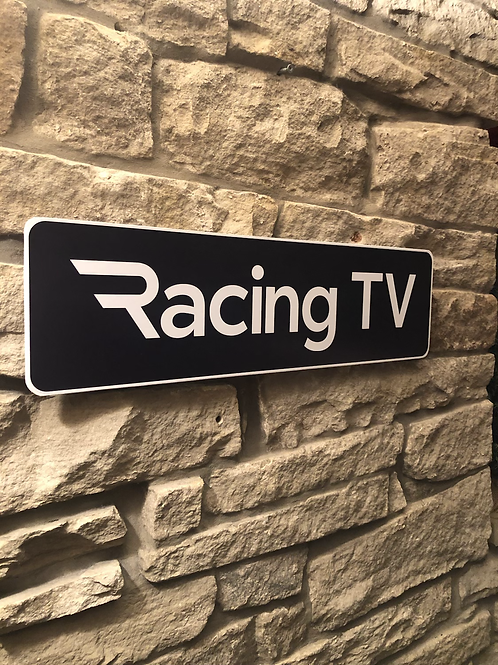Racing TV Wooden Wall Sign