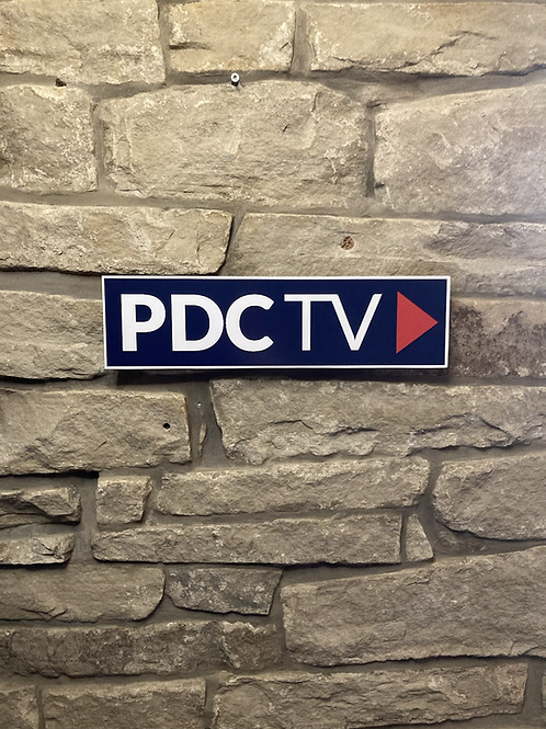 PDC TV Network Wall Sign