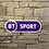 Thumbnail: Modern New Style  BT Sports Network  Wooden Wall Sign