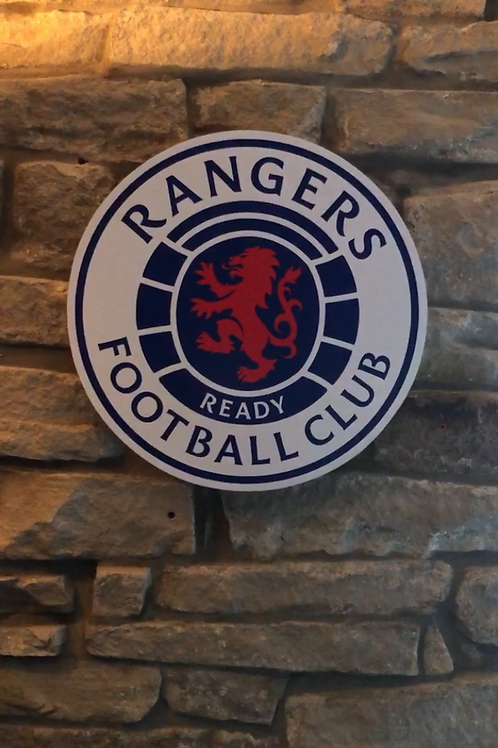 imake Rangers F.C. Wooden Wall Badge