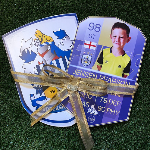 Player plaque & Team Wooden Wall Badge