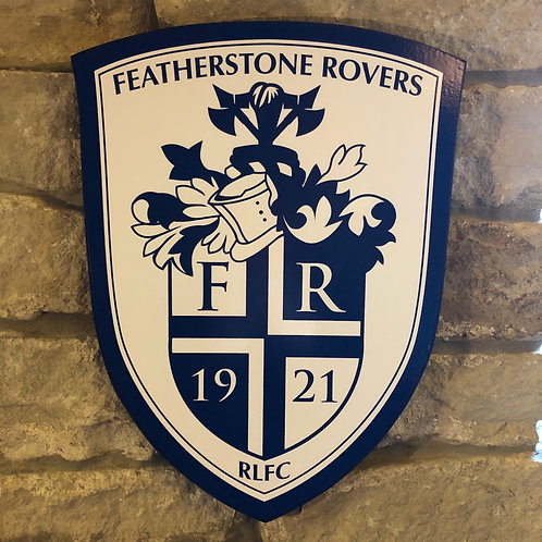 Featherstone Rovers RL Wooden Wall Badge