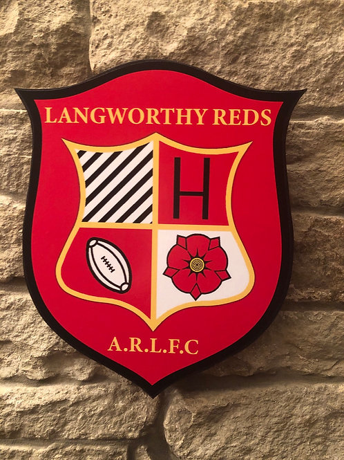 imake Langworthy Reds ARLFC MDF wall badge