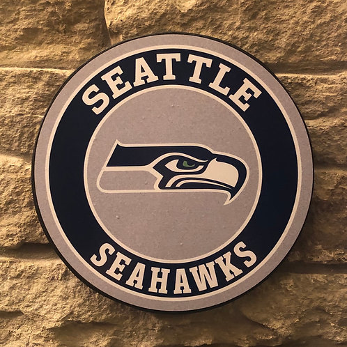 imake NFL Seattle Seahawks Wooden Wall Badge