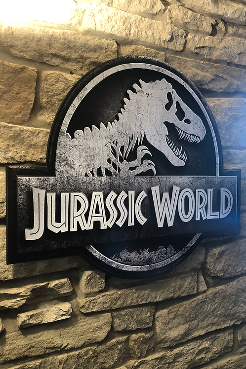 Jurassic World Wooden Wall  Plaque