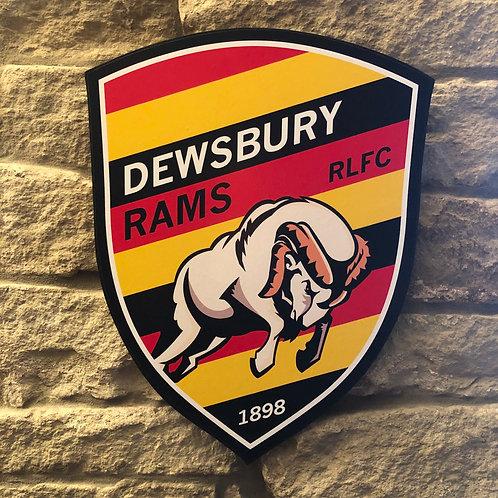 Dewsbury Rams RL MDF Wall Badge