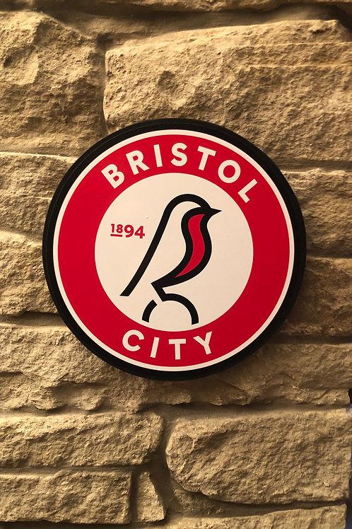 imake Bristol City FC Wooden Wall Badge