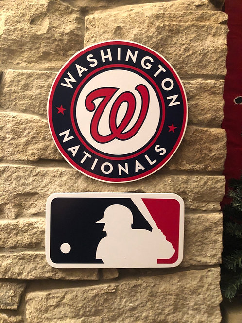 imake MLB & Washington Nationals Wooden Wall Badge