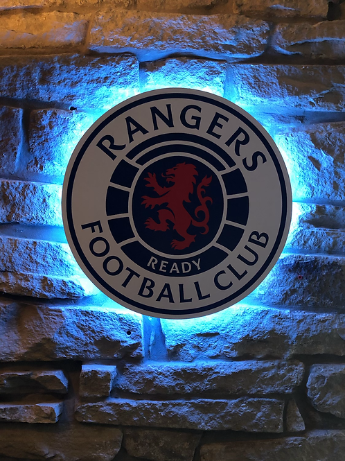 imake Rangers F.C. Wooden Wall Light with remote control