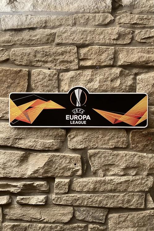 UEFA Europa League Wooden Wall Sign