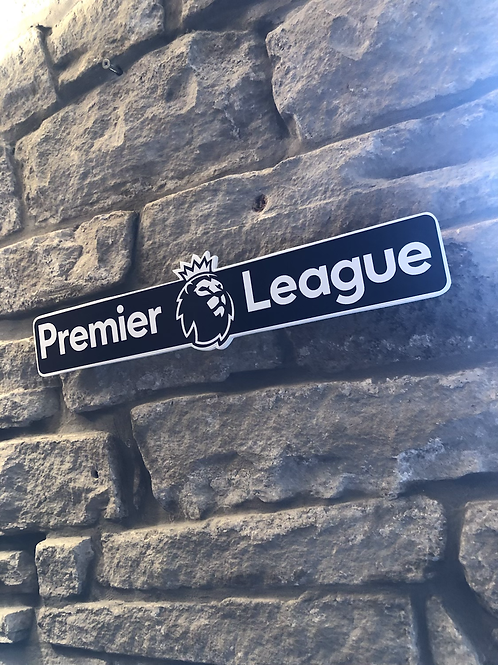 Premier League Network Signage Wooden Wall Plaque