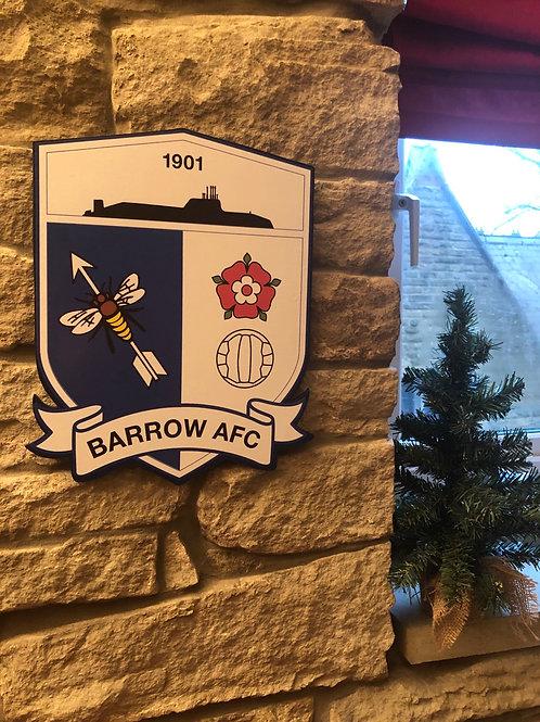 Wooden Barrow FC Wall Badge