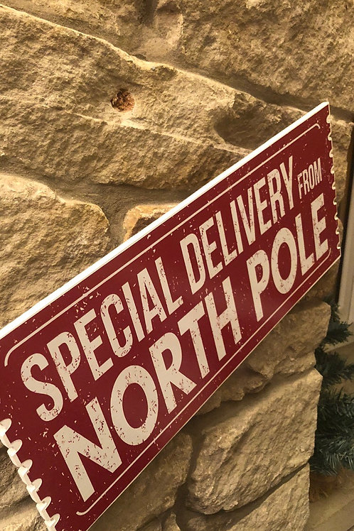 """Christmas """"Special Delivery from the NORTH POLE Wooden Ticket"""