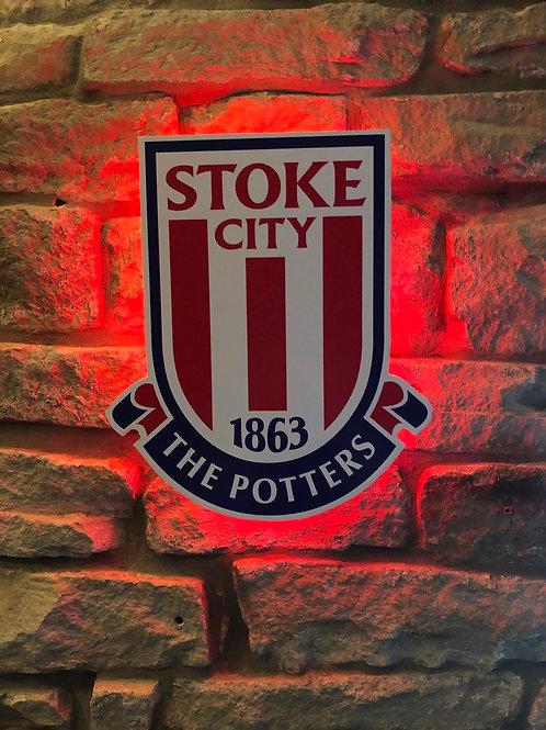 imake Stoke City FC Wooden Wall LIGHT
