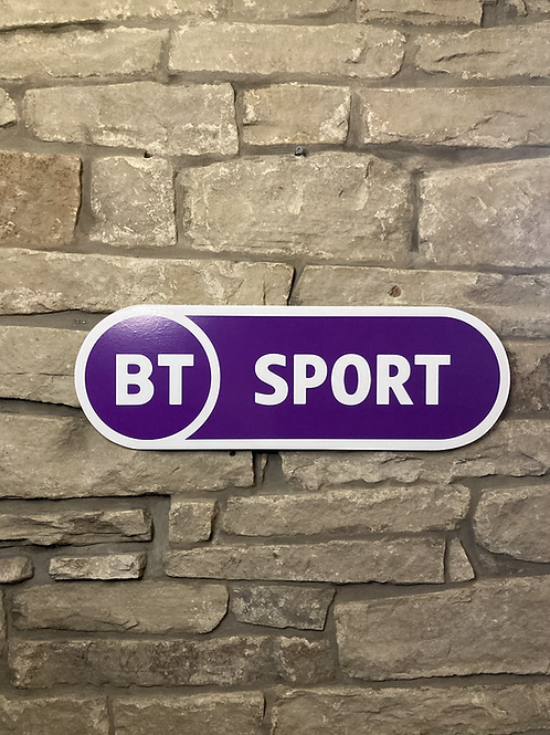 Modern New Style  BT Sports Network  Wooden Wall Sign
