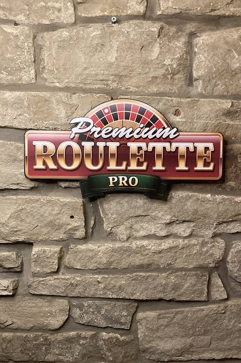 Premium Roulette Pro Wooden Wall Sign