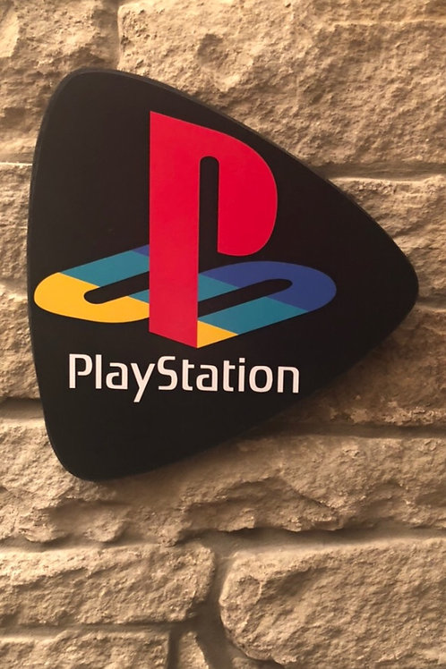 imake Classic PlayStation Retro Wooden Shield