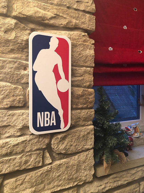 imake NBA League Large Wooden Wall Badge
