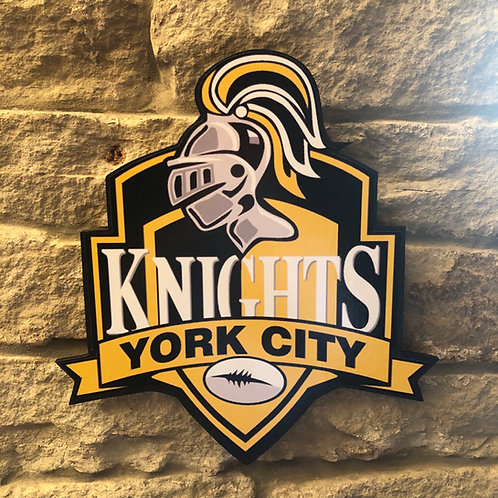 York City Knights RL Wooden Wall badge