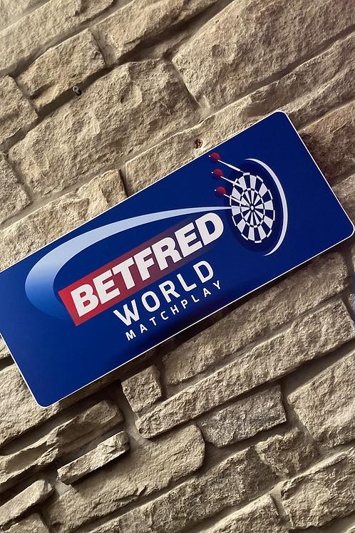BETFRED World Matchplay Darts Plaque