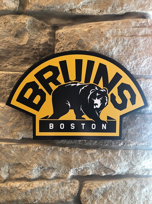 imake NHL Boston Bruins Retro logo Wooden Wall Badge