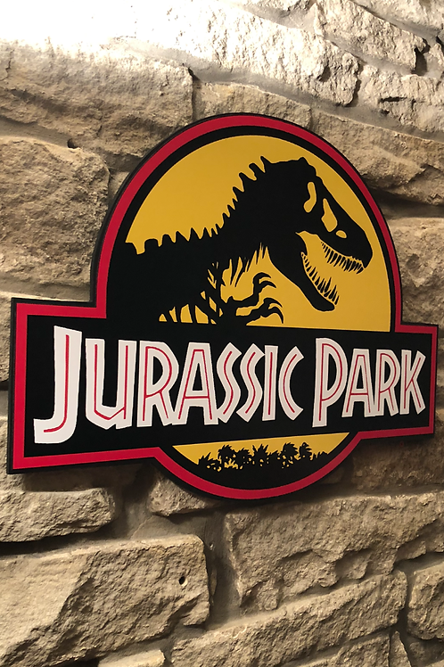 Jurassic Park Wooden Wall Badge