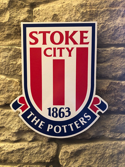 imake Stoke City FC Wooden Wall badge