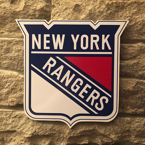 imake NHL New York Rangers Wooden Wall Badge
