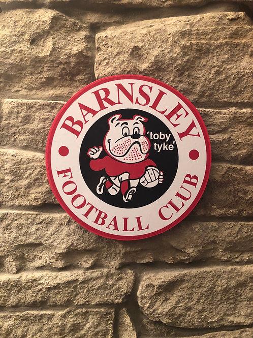 """imake Barnsley """"Toby Tyke"""" Wooden Wall Badge"""