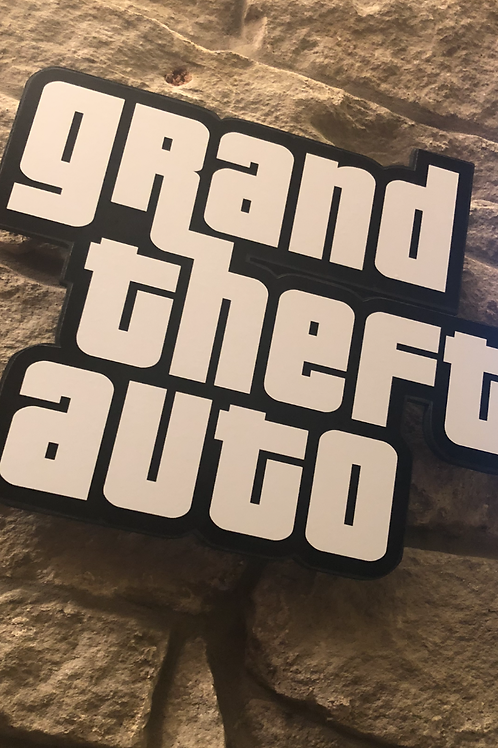 GTA the Timeless Classic Wooden Wall logo