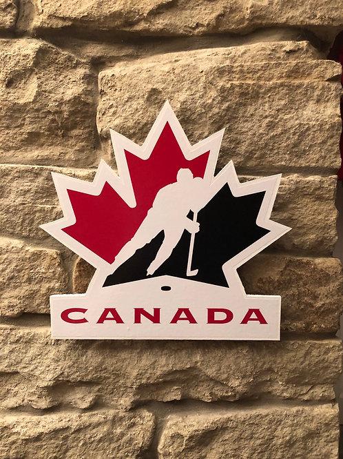 imake Hockey Canada Wooden Wall Badge