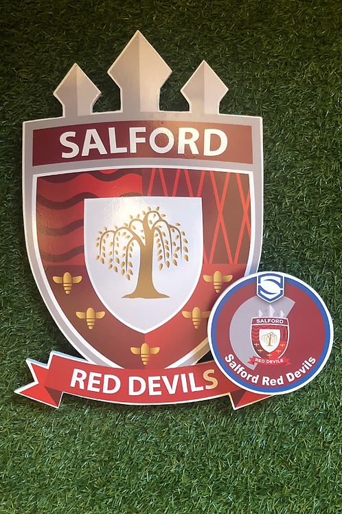 imake Salford Red Devil's Wooden Wall Badge