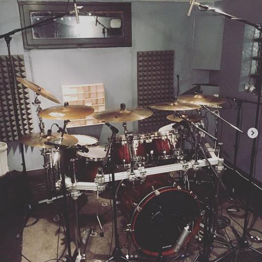 Enregistrment de batterie en studio