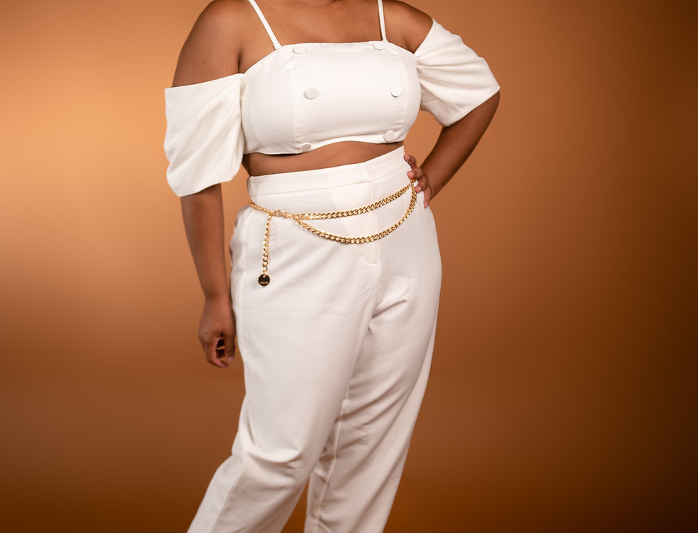 The All White Pants Suit