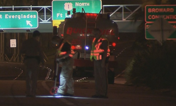 Motorcyclist Dies After Crash WIth Tank Truck on I-95 | Miami