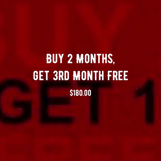 Buy 2 Months, get 3rd Month Free