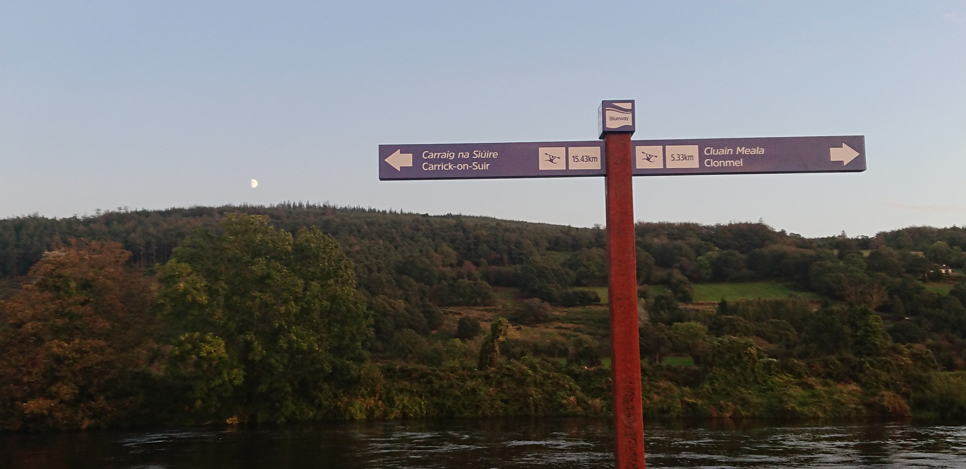 21km cycle/walk from Clonmel to Carrick on Suir