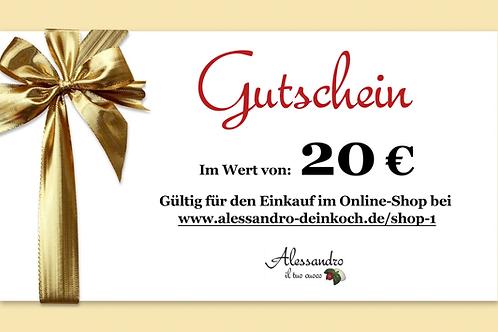Gutschein im Wert von 20 Euro