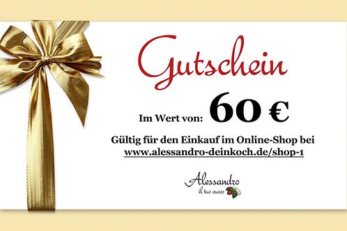 Gutschein im Wert von 60 Euro
