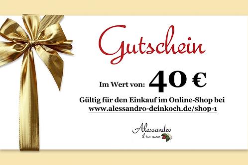 Gutschein im Wert von 40 Euro