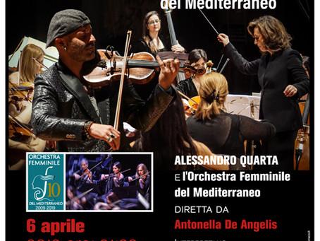Concerto a favore dell'Angsa Abruzzo dell'Orchestra Femminile del Mediterraneo con Alessandro Quarta