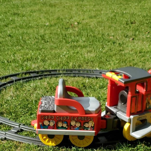Red & Yellow Peg Perego Train