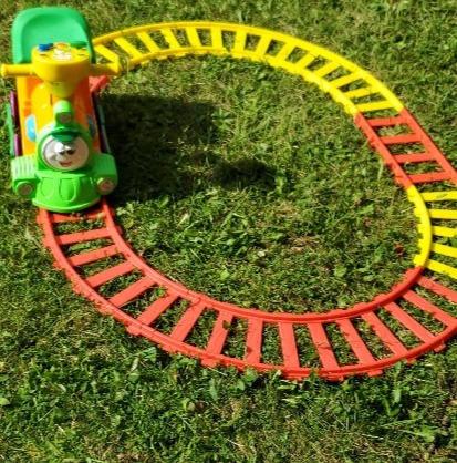 Colorful kiddie train
