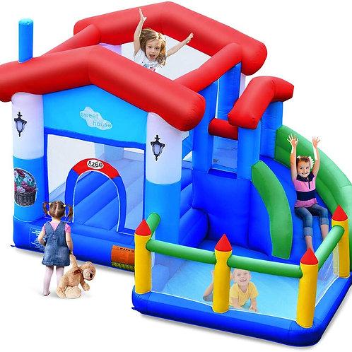 BounTech Bounce House, Slide, and Ball Pit Combo