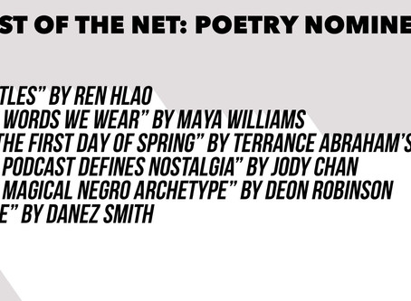 I'm a Best of the Net Nominee for Poetry!