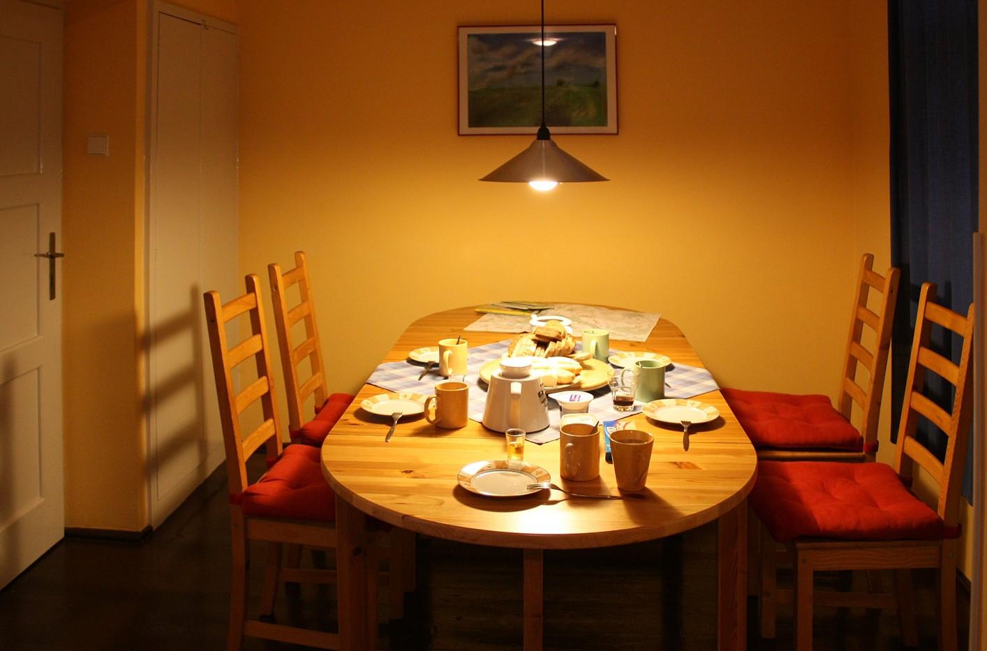 Chalupa Radějov jídelna