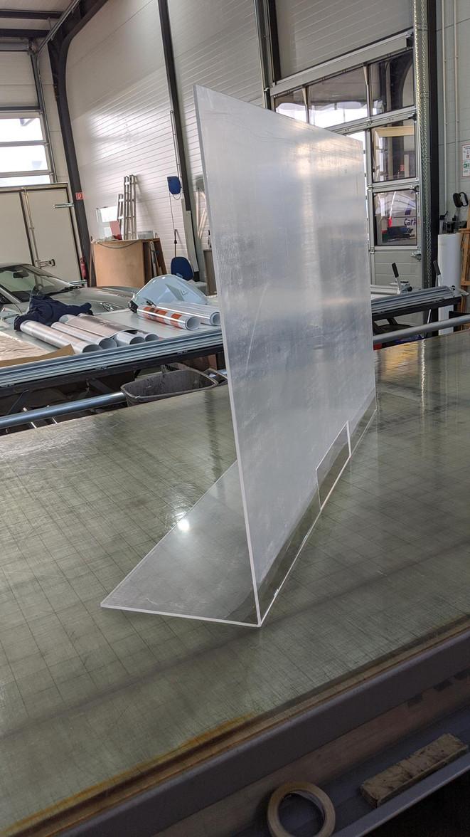 Schutz -  Plexiglas 85°